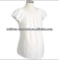 100%cotton Maternity blouse /top /clothes pregnant women wear, white color
