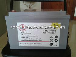 12v100ah vrla gel electric vehicle battery