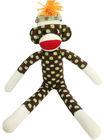 dots pattern knit sock monkey