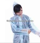 Custom Women Clear Plastic Fashion Rain Coats