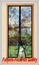 Butterfly Print Magic Mesh Butterfly Design Magnetic Screen Door As Seen On TV Hands Free Screen Door