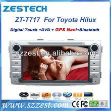 "ZESTECH car radio gps navigation player gps 7"" for TOYOTA HILUX car gps navigation"