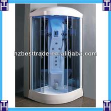HTSR-1002 950mm size white top seat built in corner sliding shower room