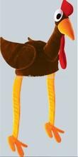 Fashionable Plush Brown Thanksgiving Chicken Hat