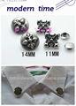 20104 venta al por mayor más nuevo de aleación de zinc/de metal de cuero y remaches para tacos de vestir/zapatos/bolso de mano