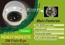 H.264 , 360 degree panorama fisheye vandal dome cctv camera