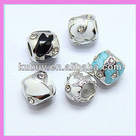 Best Selling zinc alloy enameled beads wholesale LB-7051