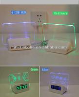 pretty card digital mini alarm clock