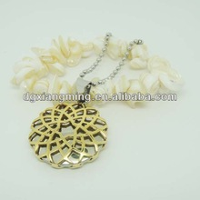 Customized OEM Ancient Stainless Steel Carving Round Pendants