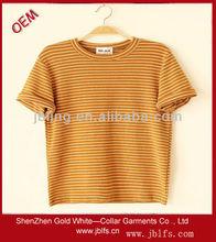 popular stripe style women's t-shirt
