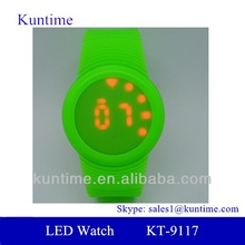Red LED Touch Screen Wrist Watch - Time, Date, Colorful Strap