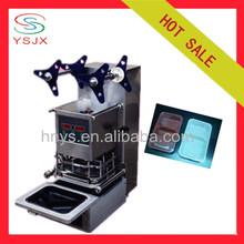 Automatic plastic manual tray sealer machine
