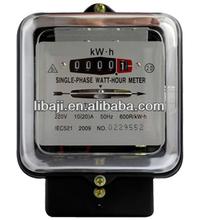 single phase terminal block electric meter digital voltage energy meter iron case black bottom board electricity meter