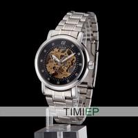 Men's Luxury Business Stype Stainless Steel Diamonds Mens Watches Date Man's Gift Analog Watch
