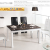 High gloss travertine marble dining table D1088