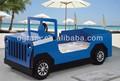 2014 mais recente venda quente azul jeep carro cama é um projeto para as crianças em e1 mdf e pintura colorida