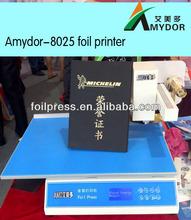 Yeni tasarlanmış kartları baskı makinesi/folyo xpress yazıcı makine/dijital altın folyo yazıcı amd8025