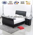 4ft6 duplo ou 5ft king size falso couro sleigh bed frame