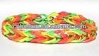 2014 Fashion Trendy Braided Rubber Bands Rainbow Colors Elastic Bands Bracelet