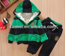 Autumn/ Winter 2014 latest style High quality Cute Hoodies Strip Contrast Color Kids Camo fleece hoody