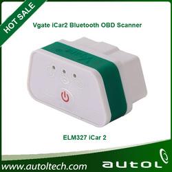Original Vgate iCar 2 bluetooth for android, OBDII ELM327 DIY for car,Super mini elm 327 BT scan tool icar2