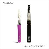 wholesale spain electronic cigarette eGo-S & Mini eGo-S fashionable LED indicator e-cigarettes private label