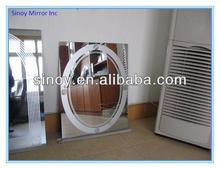 Art deco sand blast mirror, sandblasted mirror, sandblaster decorative mirror