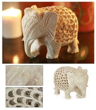 Stone Elephants sculptures , Marble animals figure
