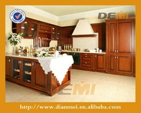 Solid wood veneer maple like stable whole kitchen cabinet set with range hood cover cabinet
