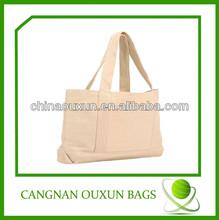 Promotional high-end long strap cotton shoulder tote bags