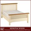 wood bedroom furniture-white modern design oak 5ft slatted wood bed frame