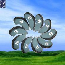 High Quality 10pcs Neoprene Golf Iron Club Head Cover