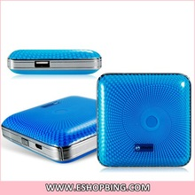 Portable 4000mAh Power Bank 5V 2.1A External Mobile Battery Charger with LED Indicator for Cell Phones Tablet PCs