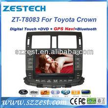 ZESTECH car TV dvd radio bluetooth TV Gps car radio 8 inch for Toyota Crown car TV