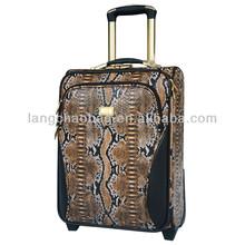 trolley luggage trolley wheel aluminum metal suitcase imitation bags python bag
