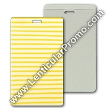 Luggage Lenticular Travel 3D Tag Yellow White Stripes Custom Promotional Souvenir Gift PVC Vinyl