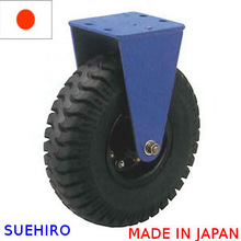 SUEHIRO caster heavy duty tire machine industrial made in japan rigid type LVnp caster three wheel motorcycle