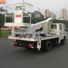 Articulando peso leve mesa de elevação com caminhão