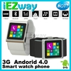 Dual Core 4G flash Android 4.0 3G Watch phone bluetooth Smart Watch phone wifi OS GPS