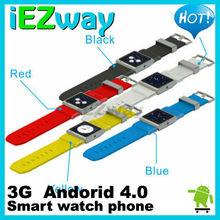 1.54 inch TP 3G Andriod bluetooth watch phone Video Music 3G Watch phone GPS