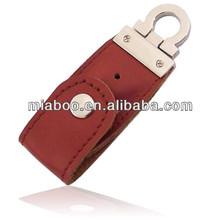 100% full capacity usb memory stick leather, Shenzhen customized leather case & usb keyboard, popular usb stick leather