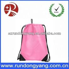 Shoe bags nylon drawstring shoe bag with embroidery logo