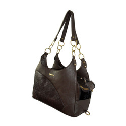 Small Dogs Elegant Leather Bag Pet Travel Carrier