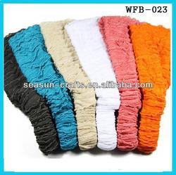 Custom good quality girls fashion wholesale lace headbands