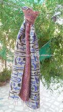 Kantha Stitch Stole - Ladies Vintage Scarves Stoles Dupattas