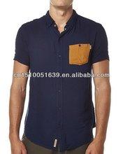 Beautiful updated summer 2014 fabric dye man shorts sleeve shirt