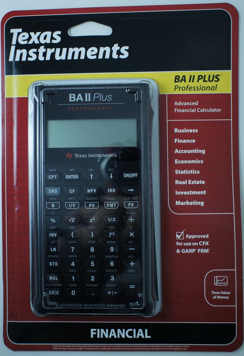 texas instruments ti ba ii plus professional financial calculator brand new sealed