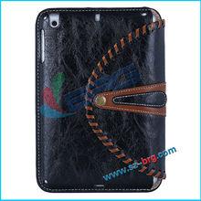 BRG-2014 hot selling camo design stand case for ipad mini 2,for ipad mini 2 folio leather case
