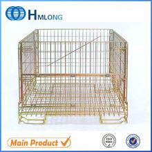 Good sale heavy duty wire mesh large secure folding storage bin