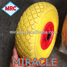 qingdao factory 3.00-4 pu wheels all color